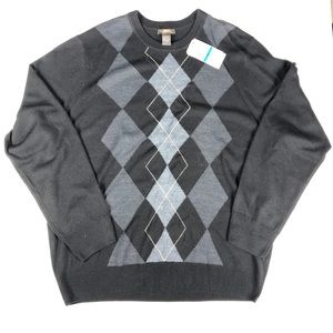 NWT Mens Dockers Black Checkered Sweater Size XL